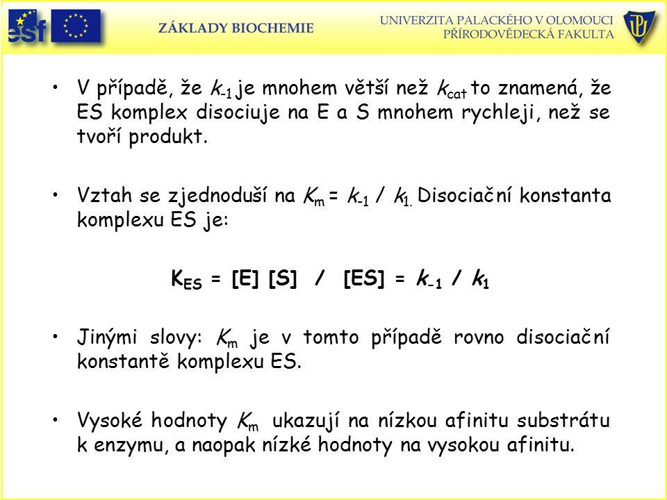 KES = [E] [S] / [ES] = k-1 / k1